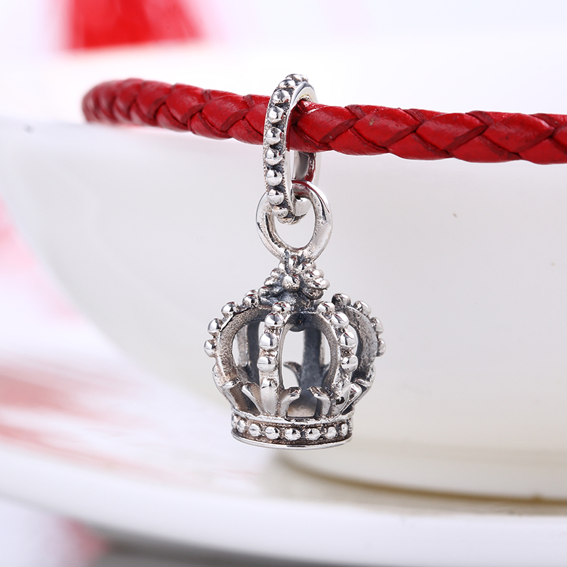 High Quality Authentic Crown Dangle charms silver S925 Logo Fit Pandora Bracelet 925 original Beads for jewelry Making Gift