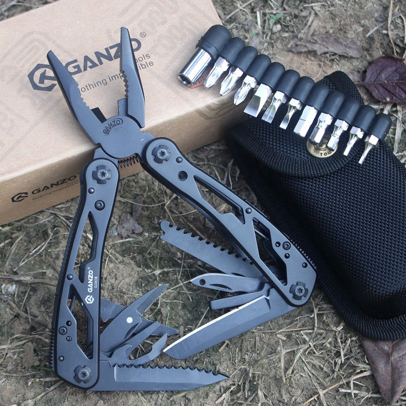 Multitools Plier Multifunctional Scissors Camping Ganzo Multi Folding Tools Folding Bits Knife Mini EDC Plier Screwdriver G202B