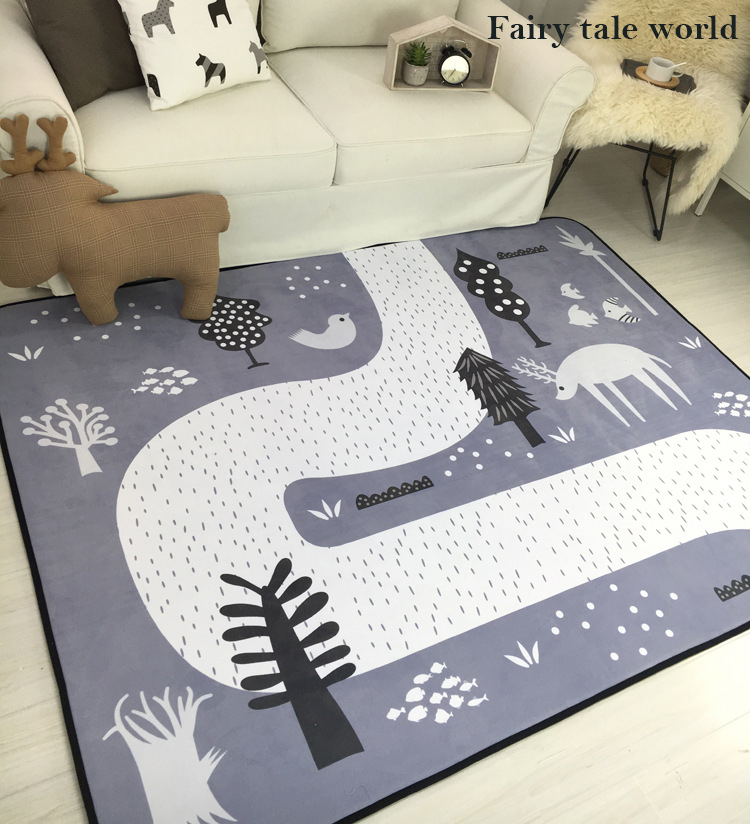 HTB1.CdHLCzqK1RjSZPcq6zTepXaD Baby Shining Mat 1.5CM(0.6in) Thickness Children Play Mat Velvet Carpet 150*200CM(60*78.7in) Baby Crawling Mat Non-slip