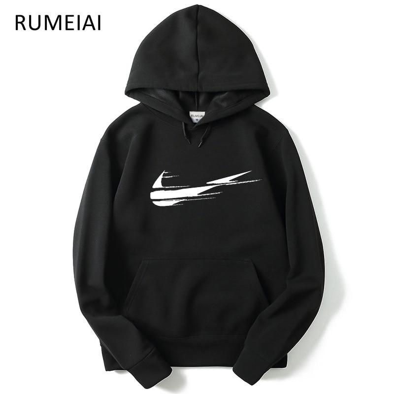 2018 New design brand Men Hoodie Streetwear Hip Hop Fleece printing Hooded Hoody Mens Hoodies and Sweatshirts Size M-XXL