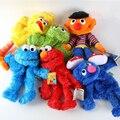 35 cm Calidad hHigh pPuppet Juguete Elmo Barrio Sésamo Big Bird Cookie Monster Mano Muñeca de la Felpa Juguetes Educativos Juguete para Niños