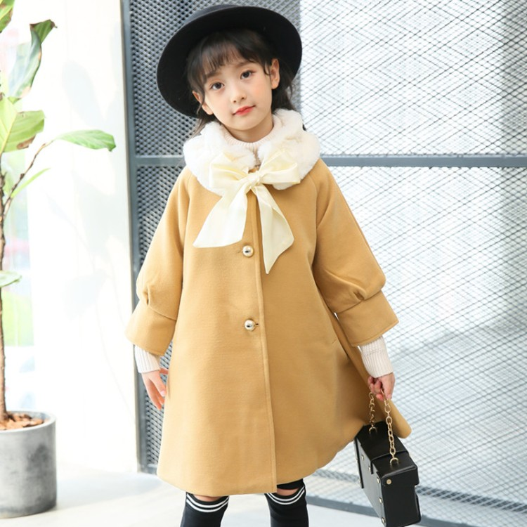 2c0e4c310 2017 hot sell new fashion girls wool winter coats clothing long ...