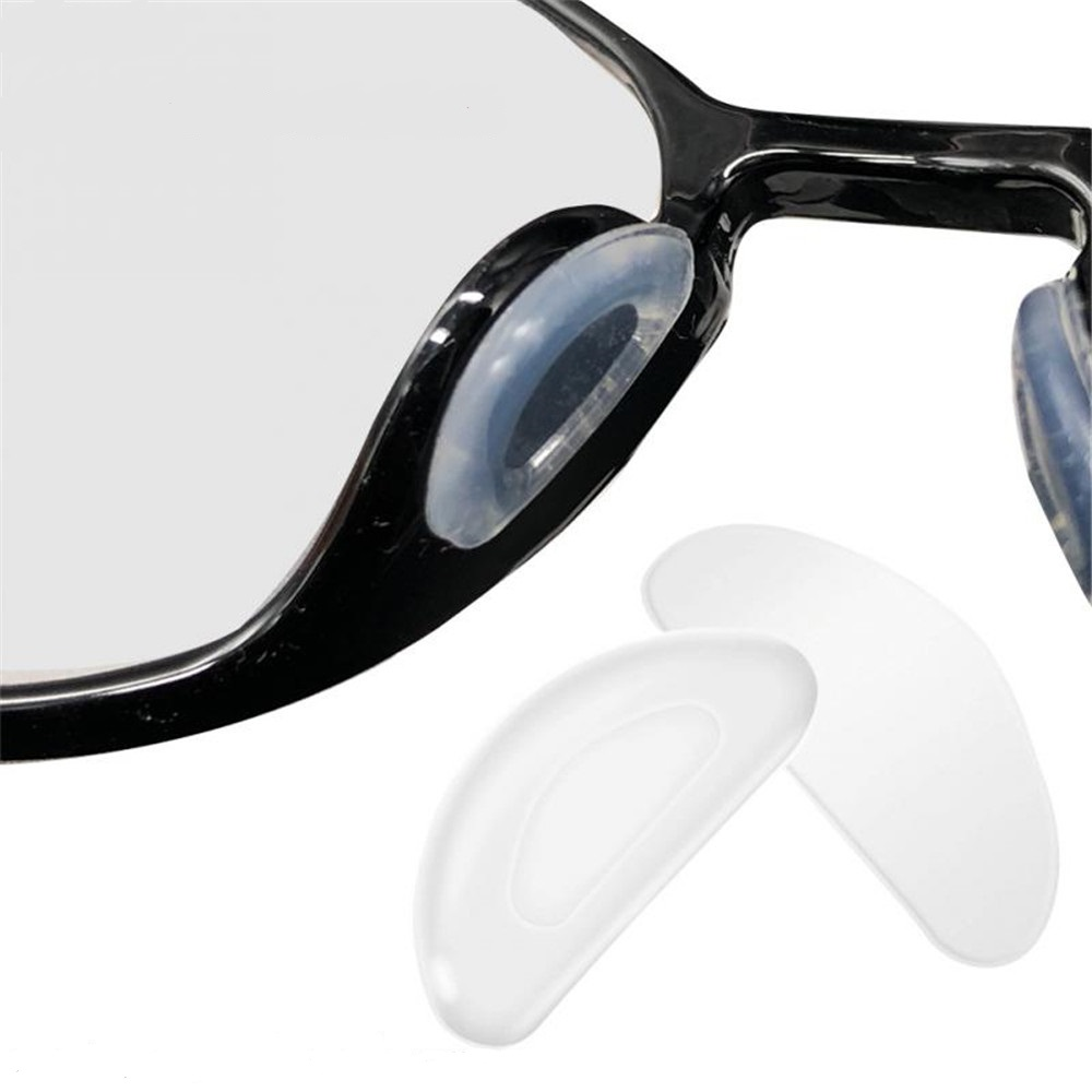 5 Pair Glasses Nose Pads Adhesive Silicone Nose Pads Non-slip White Thin Nosepads For Glasses Eyeglasses Sunglasses