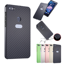 For HTC Desire 12 Plus 12+ Case Aluminum Metal Frame+Carbon Fiber Hard Back Cover Case for HTC Desire 12 Shockproof Phone Shell mooncase hard rubberized rubber coating devise back чехол для htc desire 626 black