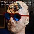 2017 Brand Polarized Sun Glasses Summer Women Men Retro Vintage 100%UV400 Sunglasses Acetate Eyeglasses 1960's New Arrival
