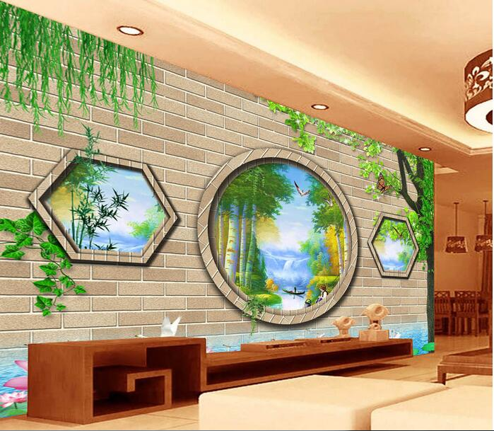 Compare prices on chinese garden wallpaper online for Custom mural cost