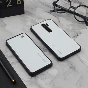 Image 3 - Slim Gradient Tempered glass Magnetic Wireless charger Case For Samsung Galaxy S8 S9 Plus Power Bank Battery Charging Case Cover