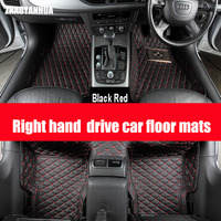 ZHAOYANHUA Right Hand Drive Car Floor Mats For Mercedes Benz M ML GLE Class W164 W166