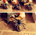 na101 2015 Hot Vintage Crystal Resin Spider Bead Necklace Dangle Charm Pendant Long Chain