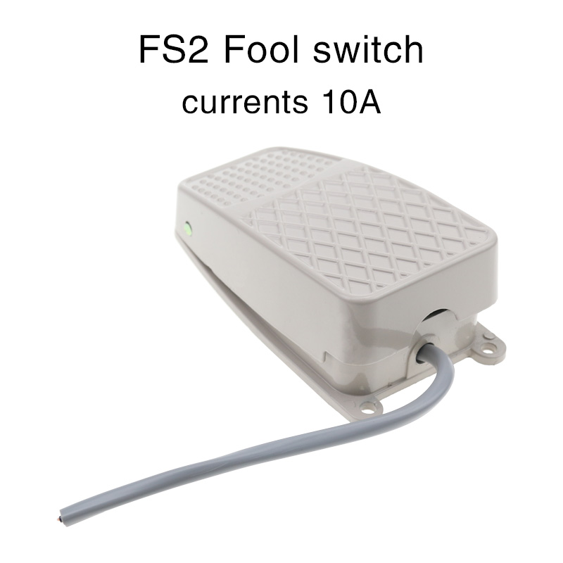 Foot switch fs-2 foot switch FS2 wire aluminum shell/silver point quality self-reset.