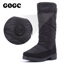 GOGC 2018 Caldo Scarpe Inverno delle Donne Stivali Alti Al Ginocchio Più Il  Formato Stivali di Pelliccia di Inverno di Modo Dell. 407e93fbd31