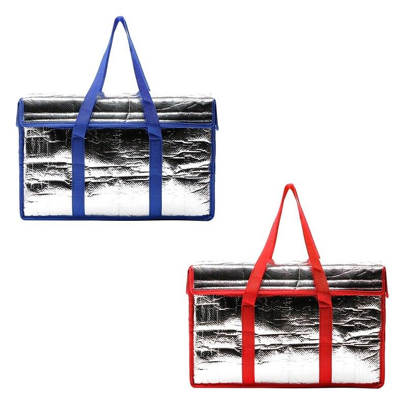 24L Plegable de Gran Capacidad de Bolso de la Película De Aluminio Engrosada Planta Paquete de Comida Bolsa de Aislamiento Bolsa de Picnic Al Aire Libre