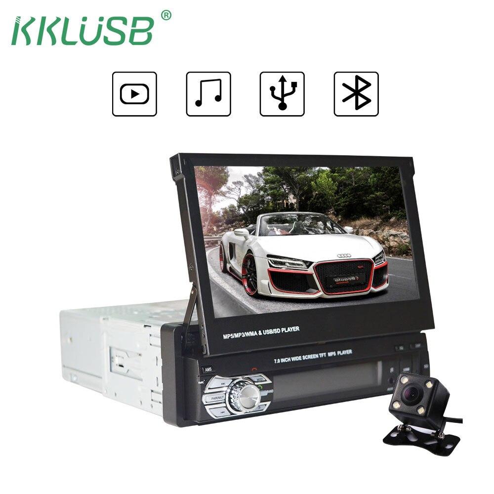 Автомобильный стерео радио Bluetooth Авторадио mp5 автомобиля 1 Дин 7-дюймовый HD Телефон Bluetooth с USB/TF карт FM-передатчик в-Авторадио автозвук