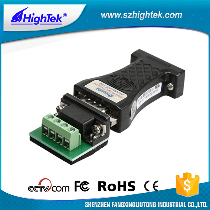 HighTek HC -02 Industrial Rs232 To Rs485 Converter Serial Data Adapter RS-232 To RS-485 with 600W surge protection