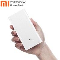 Original Xiaomi 20000mAh Power Bank 2C External Battery portable Dual USB QC3.0 fast charing Powerbank charger for phone 6 7 8 X