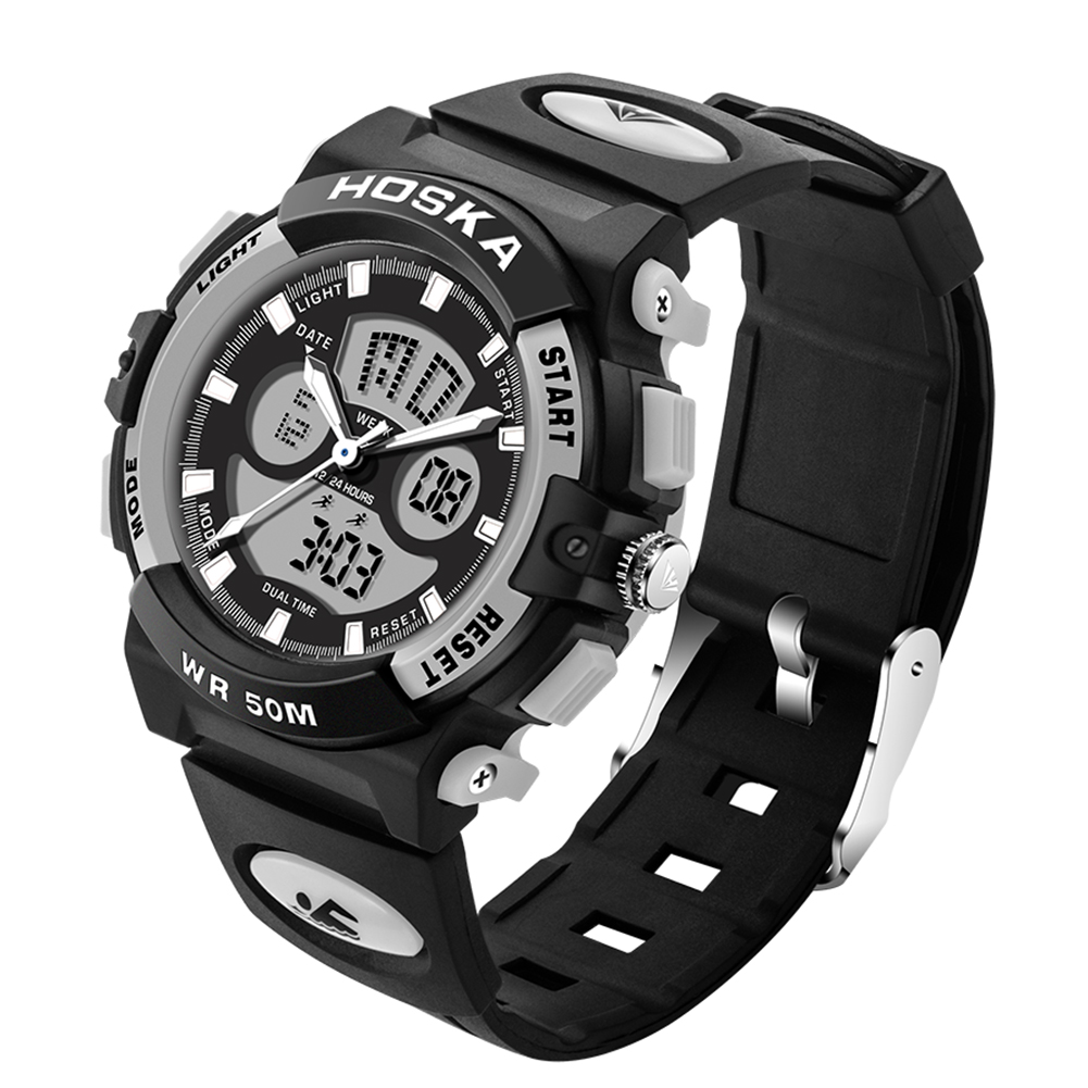 VH Watches Men Sports Quartz Watches Luxury Brand Casual Auto Date Boy 5ATM Waterproof Watches Relojes Hombre 2017 vh luxury brand men quartz watches 2017 double time show relojes casual male sports watches clock hours horloges mannen gift