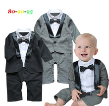 Free Shipping 3 sets/lot Baby Boy's Formal long sleeve Romper