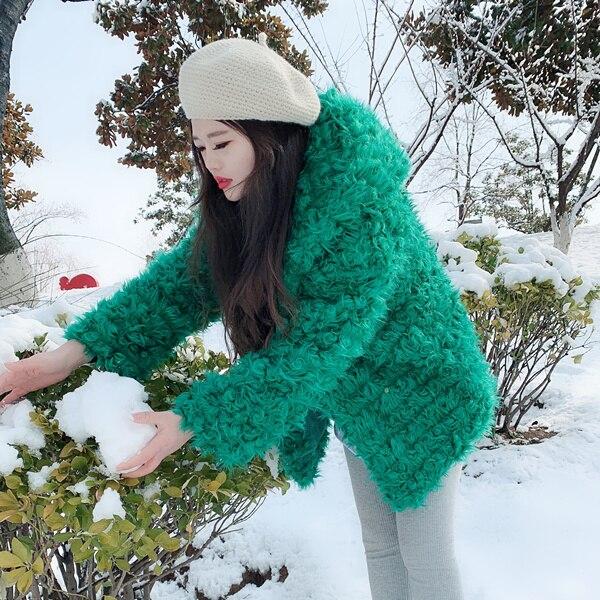 Faux Vestes Survêtement Vert Mode Sweat Thermiques Manteau Pour Fourrure Gtgyff xl Capuche Femmes D'hiver Manteaux À S Shaggy Veste qYROBC