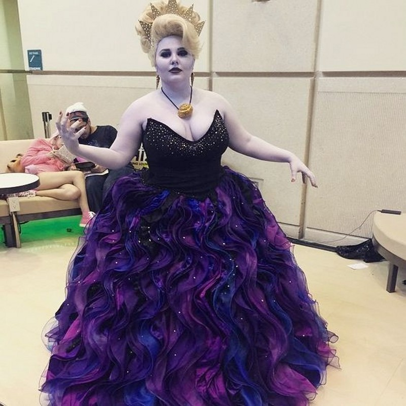 2017 Purple Gothic Quinceanera Dresses Plus Size Beading Puffy ...
