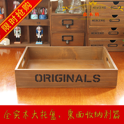 zakka grocery wooden tray storage box of wood tray log tray english letterschina