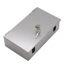 الفولاذ المقاوم للصدأ 86 نوع في الهواء الطلق صندوق مقابس مقاوم للماء قفل مربع مع قفل مكافحة سرقة الكهربائية في الهواء الطلق صندوق دفقة معدني مقاوم للماء