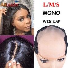 Лучшие мононити-парик-колпачок наиболее похожий на кожу головы кепки парики L M S размер моно парик крышка для изготовления парики с регулируемым ремешком 1 шт