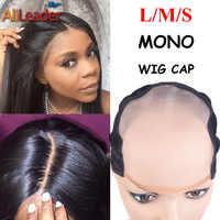 El mejor monofilamento, gorro de peluca más Similar al cuero cabelludo, pelucas con tapa L M S, tamaño MONO, gorra de peluca para hacer pelucas con correa ajustable, 1 unidad