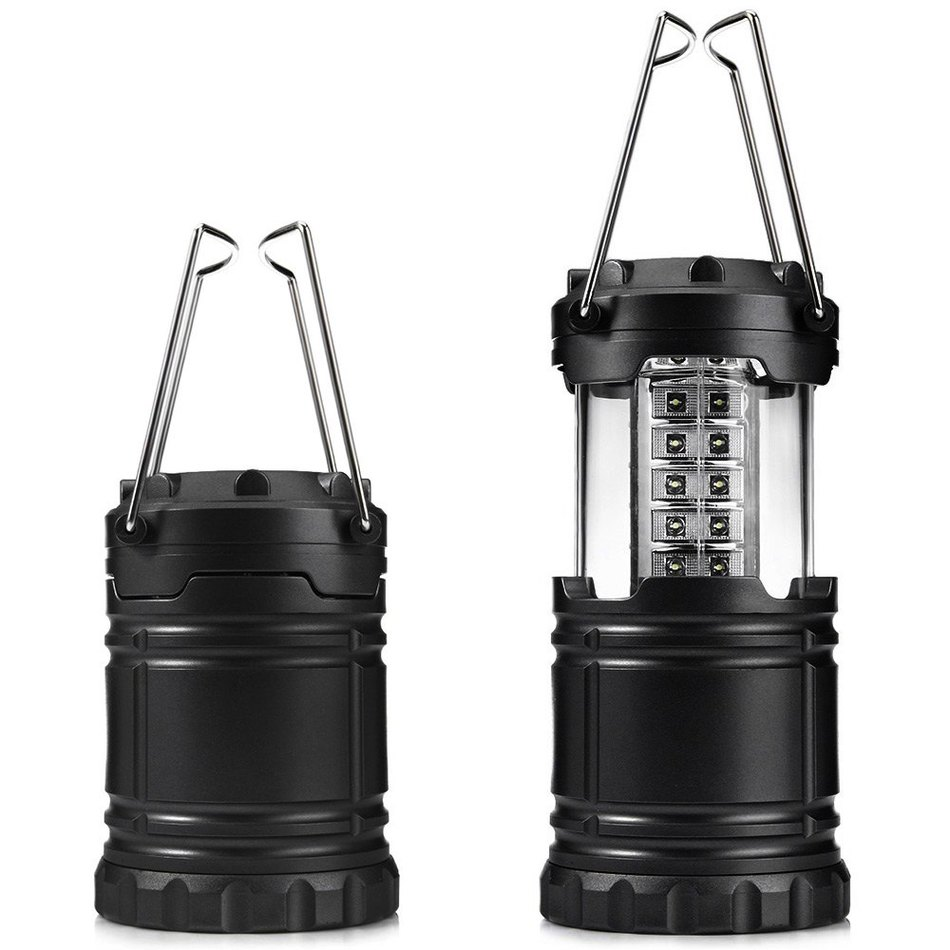 LED Travel Hiking Camping Light Lantern Outdoor Indoor Tent Lamp Rechargeable