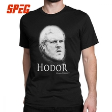Game Of Thrones Funny T Shirt for Men Hodor Hold The Door Sheer Short Sleeve Clothes Unique Tees Pure Cotton O Neck T-Shirt