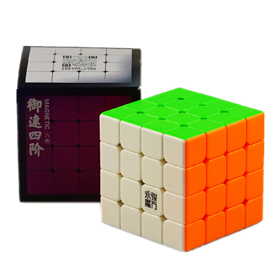 YJ Yusu 4x4 Cube 4x4x4 Magnetic Cube 4 Layers Magnetic Speed Magic Cube Profissional Puzzle Toys For Children Kids Boys Gift