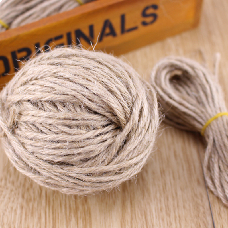 soft jute twine 40meter natural sisal rope 3mm rustic tags wrap wedding party decoration craft burlap - Sisal Rope