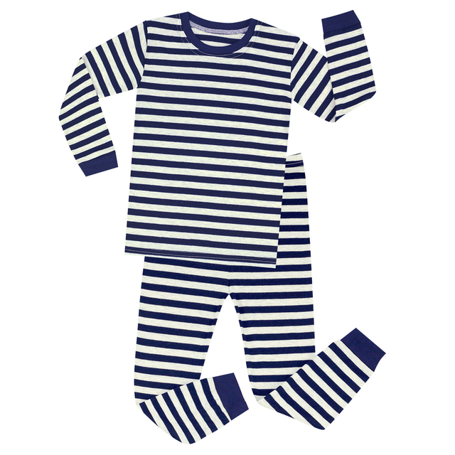 ffaa52fa1 Aliexpress.com   Buy Brand New Children Long Sleeve Striped Pyjamas ...