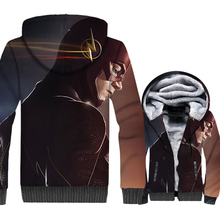 fashion high quality hooded tracksuits men casual wool liner jackets 2019 The Flash Super hero 3D prints mans coats