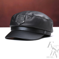Svadilfari new 2017 military hat 100% high quality cow leather winter warming men women cap for father free shipping hot sale