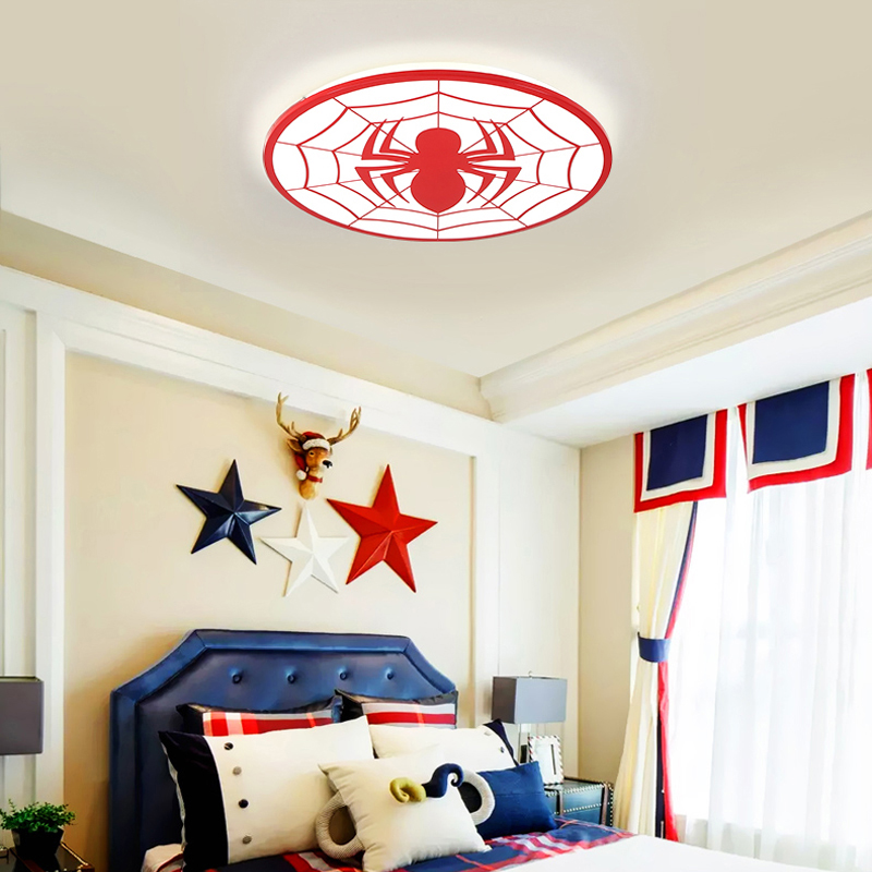 Image 5 - Kids Room Light Spiderman Ceiling Lights Modern LED Ceiling Light With Remote Control For Baby Room Deco Enfant Chambre Lamp-in Ceiling Lights from Lights & Lighting