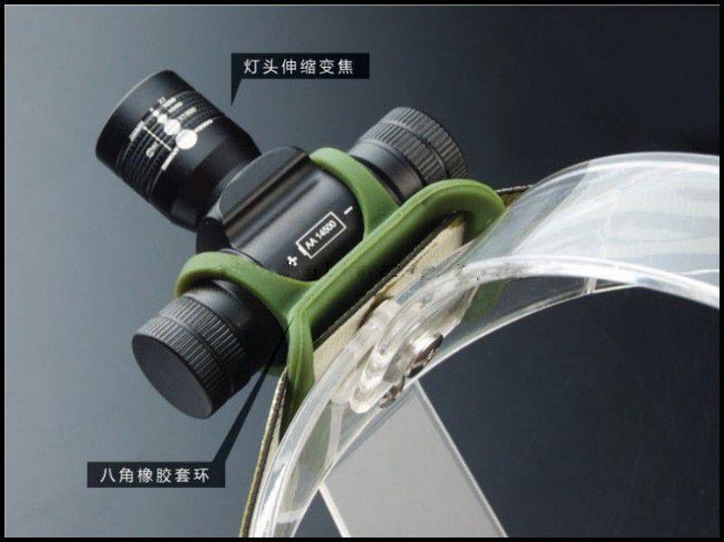 WasaFire Mini Army Headlamp Q5 LED 160 Lumen AA/14500 Battery Zoomable Headlight Bike Bicycle Light Headlamp For Camping
