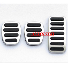 Manual Non-slip Auto Car Foot Pedal Pad Cover Fit Gas Brake Pedals For Volvo V40 2014-2018 Footpedal Footplate 3Pcs Set