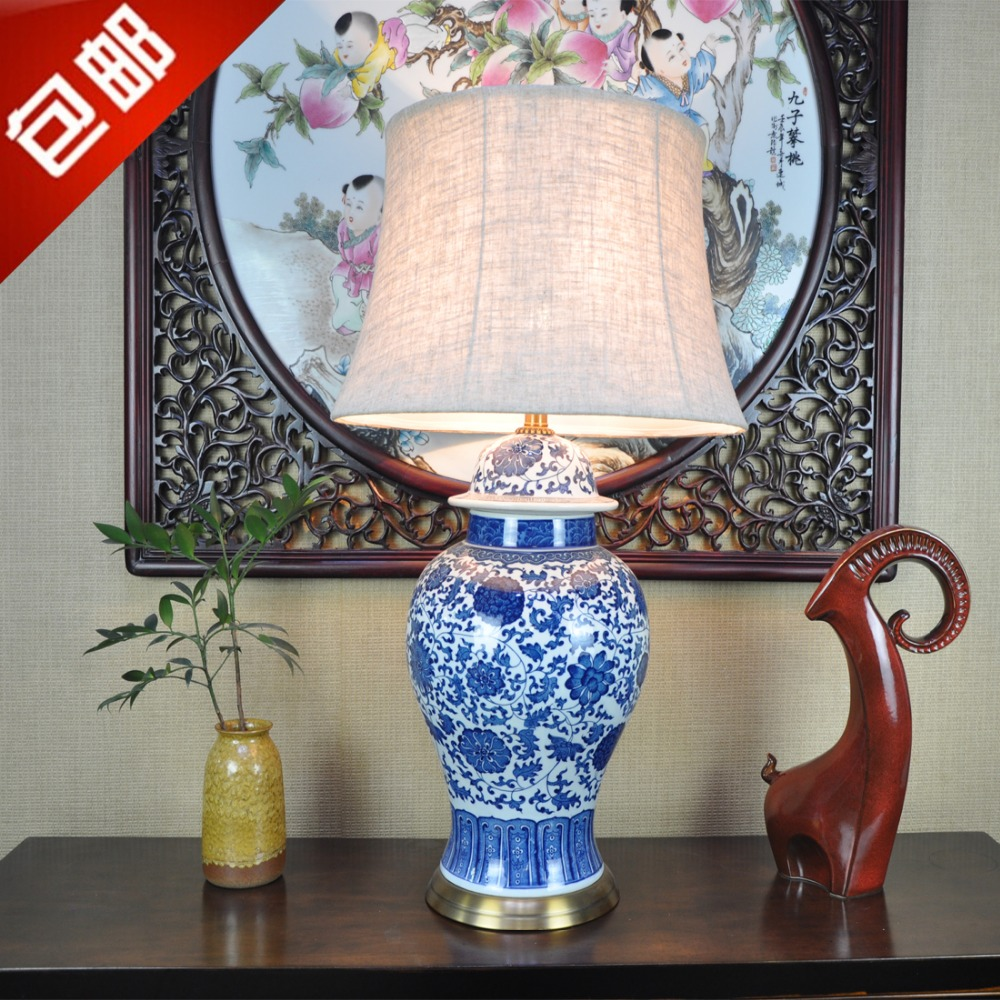 Buy art chinese porcelain ceramic table - Porcelain table lamps for living room ...