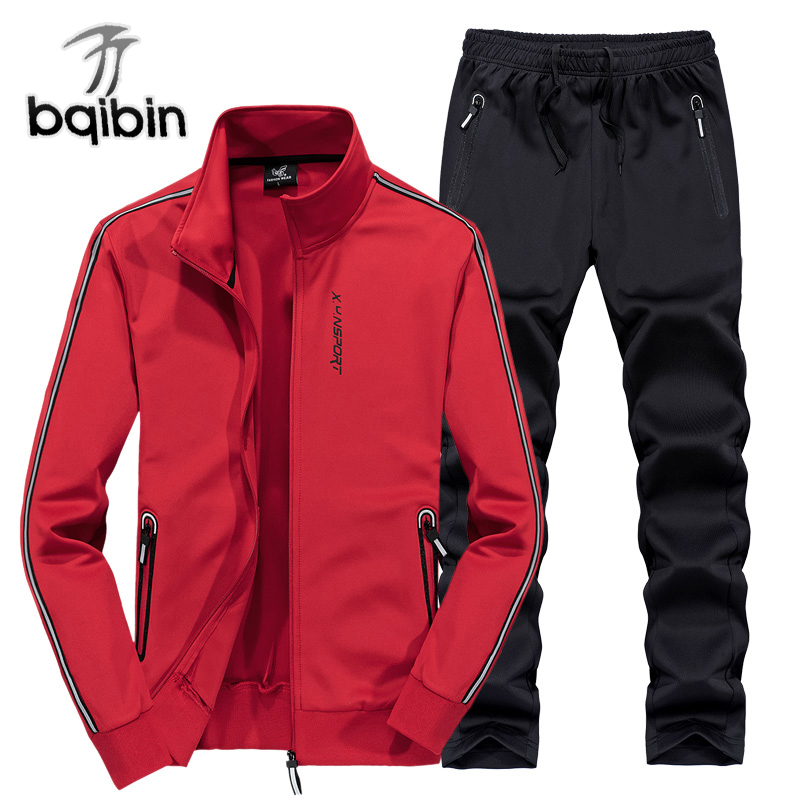 2018 New Spring Autumn Men Sets Sportswear Tracksuit Jackets + Pants Men Casual Sporting Suits Plus Size L~6XL 7XL 8XL plus size men sets 5xl 6xl 7xl 8xl sportswear gym clothing spring autumn keep warm sport jogging running suits women new suits
