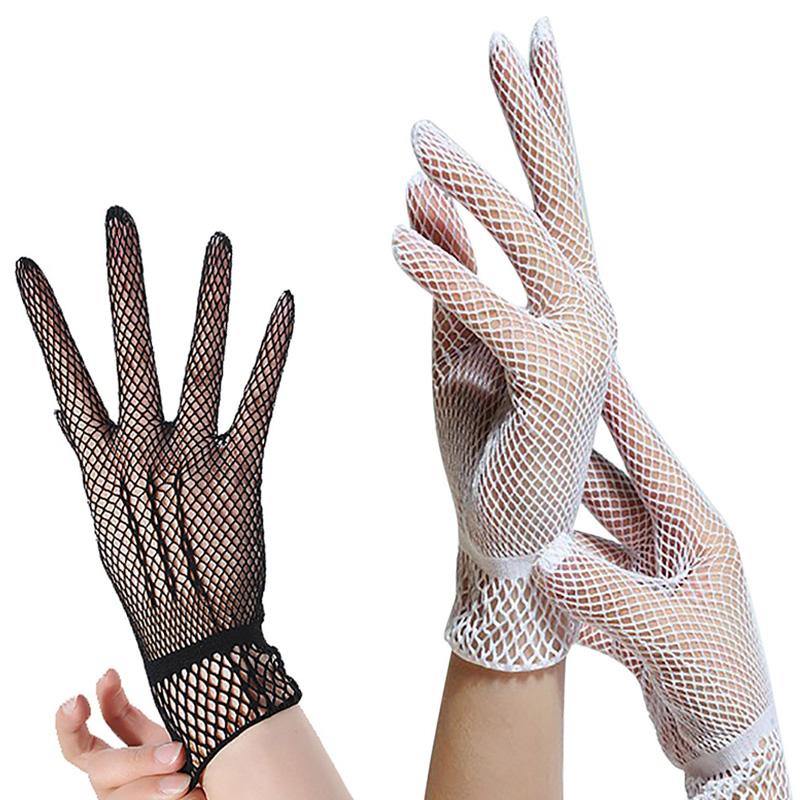 New Design 1 Pair Women Summer Fishnet Dual Function Silk Anti-uv Gloves Or Leg Lace Mesh Socks Hot Sale 2018 Quality First Apparel Accessories