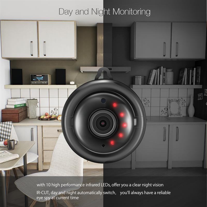 DIGOO DG-MYQ 2.1mm Lens 720 P Kablosuz Mini WIFI Gece Görüş - Güvenlik ve Koruma - Fotoğraf 5