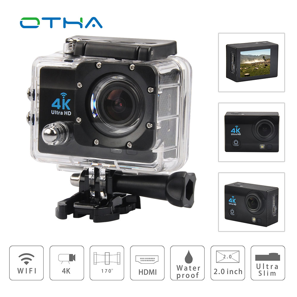 OTHA 4K Action Camera Full HD1080@60FPS Sports Video Camera Wifi 30M Waterproof 2.0inch LCD Go Helmet Pro camera fotografica Cam gitup git1 1 5 inch lcd wifi rf control action camera
