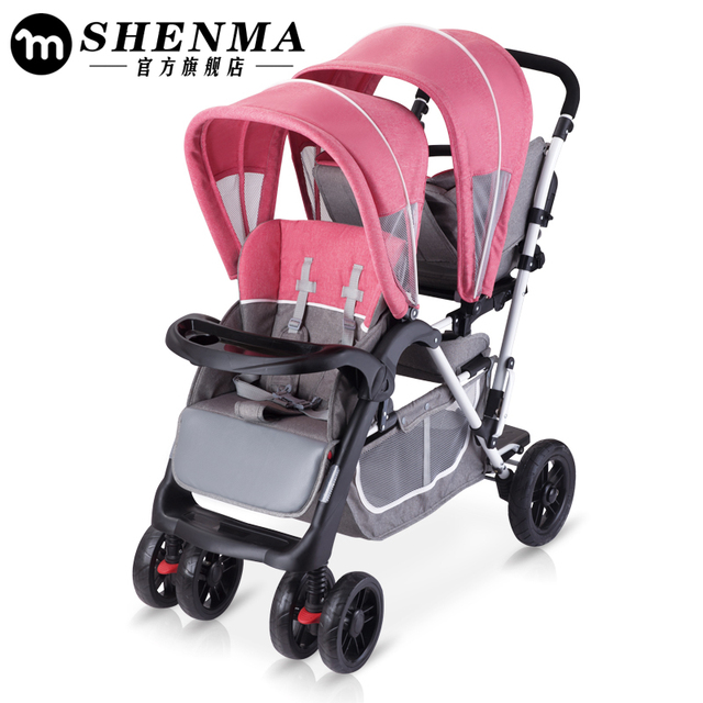 fd3d504c5 2019 babyfond Twin baby strollers can sit high landscape umbrella ...