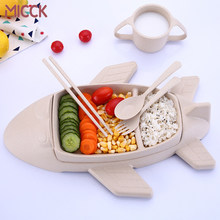 MICCK Cartoon Lunch Box For Kids Children Lunchbox With Cutlery Aircraft Modeling Bento Box Gift To Kids Food Storage Container(China)