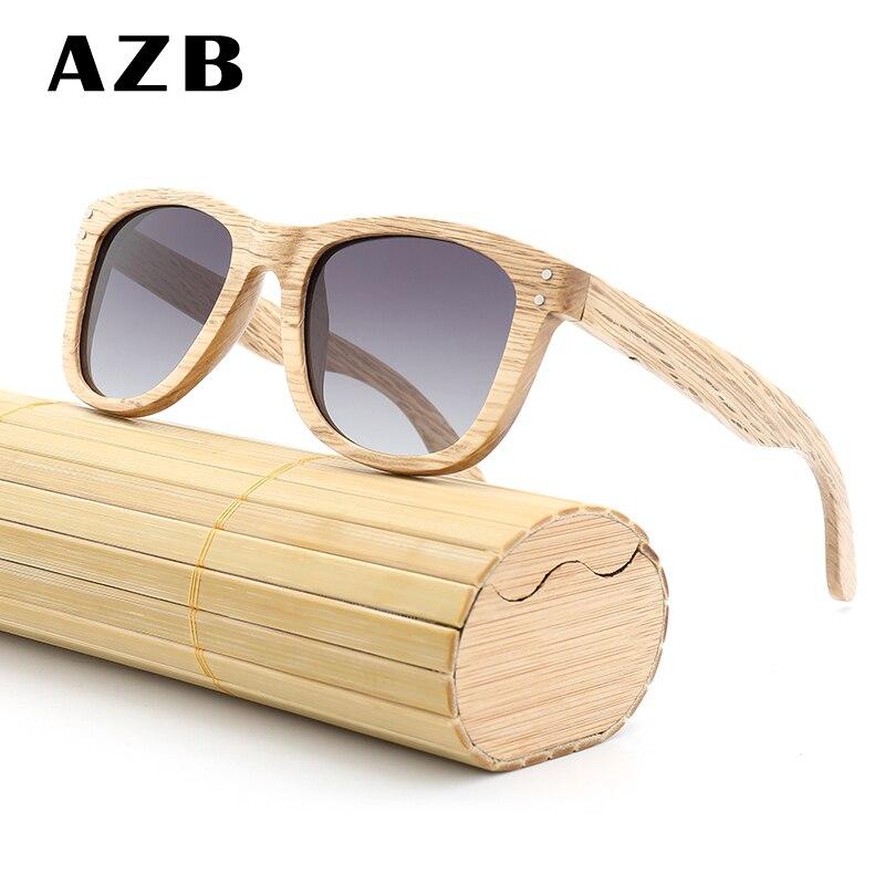 Azb 2018 новый деревянный поляризационные Солнцезащитные очки для женщин 9 цветов классический заклепки бамбука очки обувь для мужчин и женщин...
