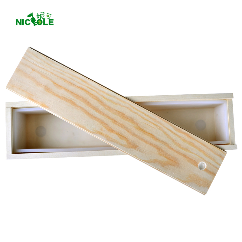 Food Grade Silicone Soap Mold Long Size Rectangle Mould With Wooden Box Handmade Swirl Loaf Soap Making Tool