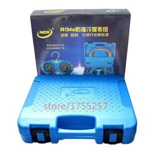 Image 4 - Refrigerante manometro, manometro di Alta qualità, prova di Scossa di pressione gauge, Aria condizionata refrigerante strumento