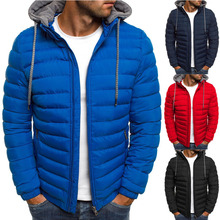 ZOGAA Men Fashion Winter Parkas Coat Hooded Jacket Cotton Casual Warm Overcoat Streetwear Parka Men Winter Coat