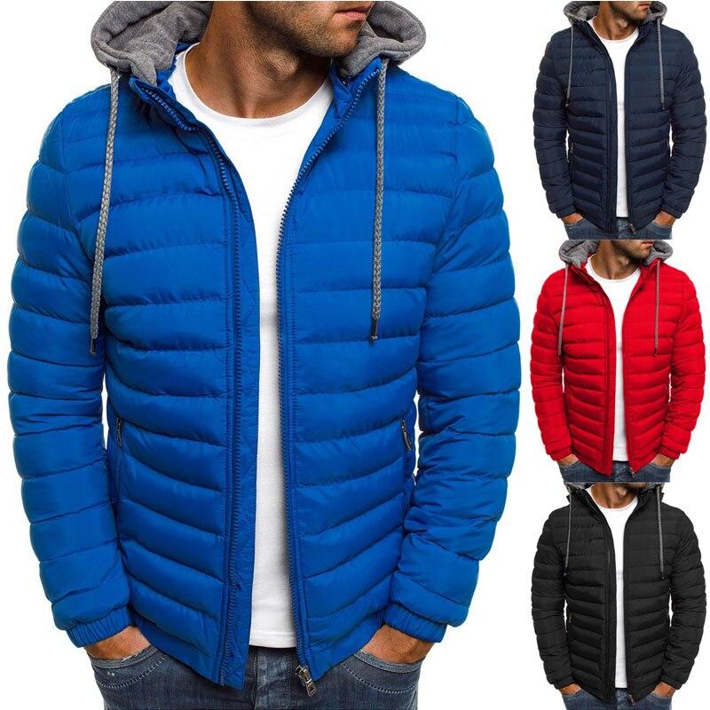 ZOGAA Men Fashion Winter   Parkas   Coat Hooded Jacket Cotton Casual Warm Overcoat Streetwear   Parka   Men Winter Coat