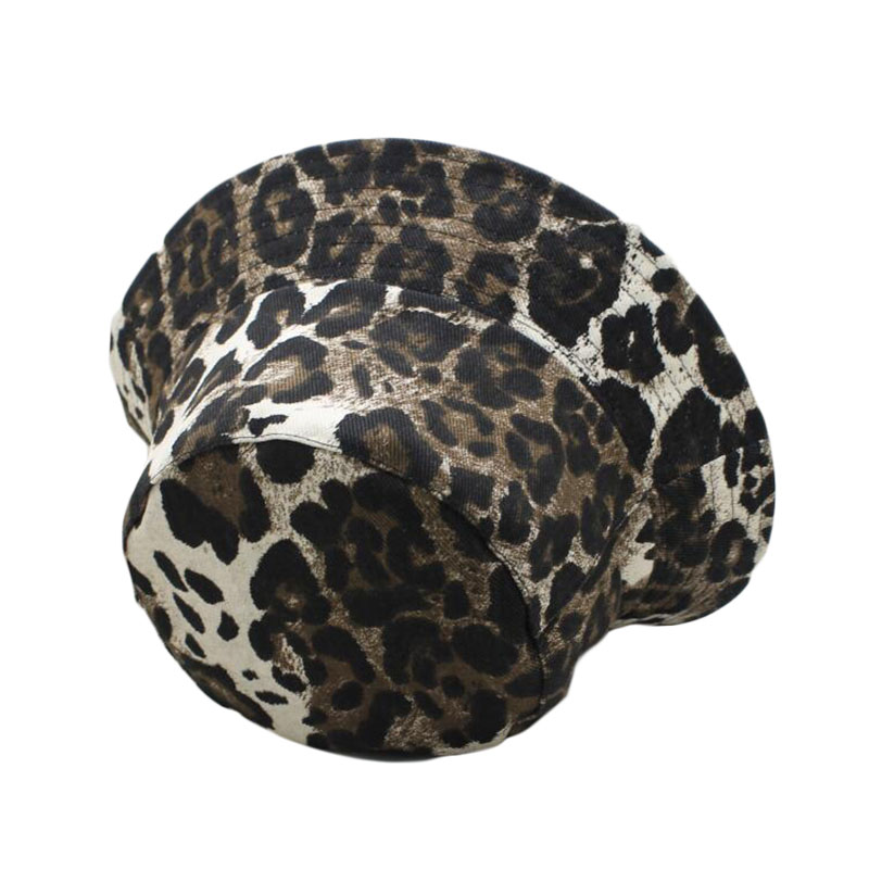 Free Shipping 2019 New Fashion Summer Leopard Animal Printed Bucket Hats Fishing Cap Women Men in Men 39 s Fedoras from Apparel Accessories